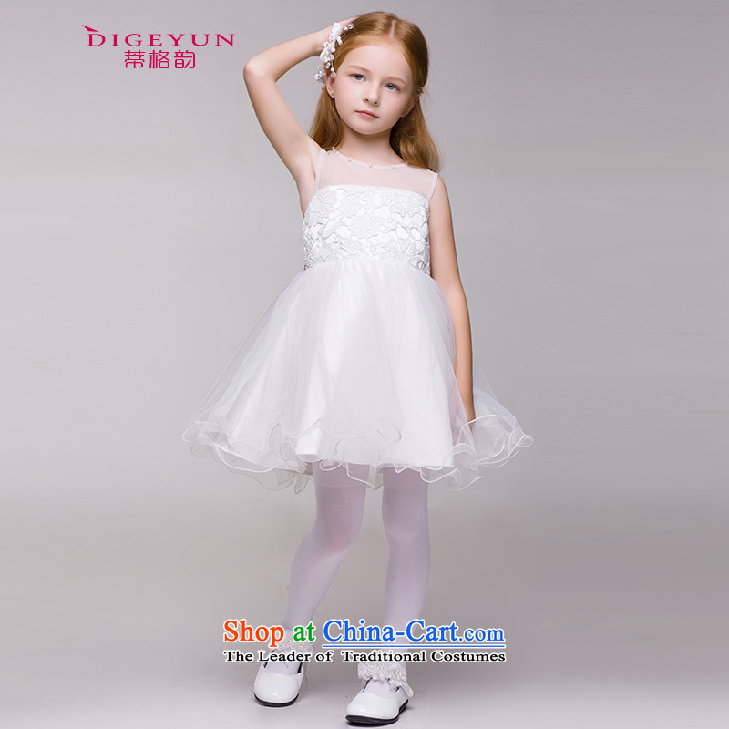 The following 61 children Korean dress cluster Flower Girls dress girls princess short skirts bon bon skirt wedding dress summer White聽150