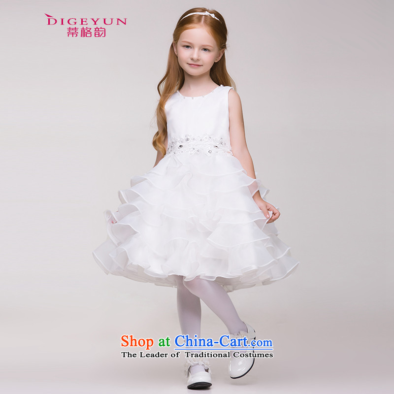 The following children dress skirt Korean Princess skirt girls birthday short skirt wedding flower girls dress bon bon skirt summer White聽120