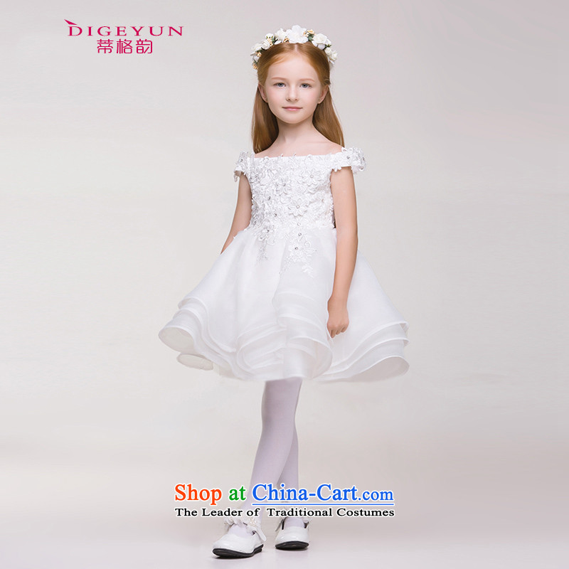 The following new paragraph 2015 Summer Children dress Korean girls dress skirt princess skirt bon bon Flower Girls skirt White 140
