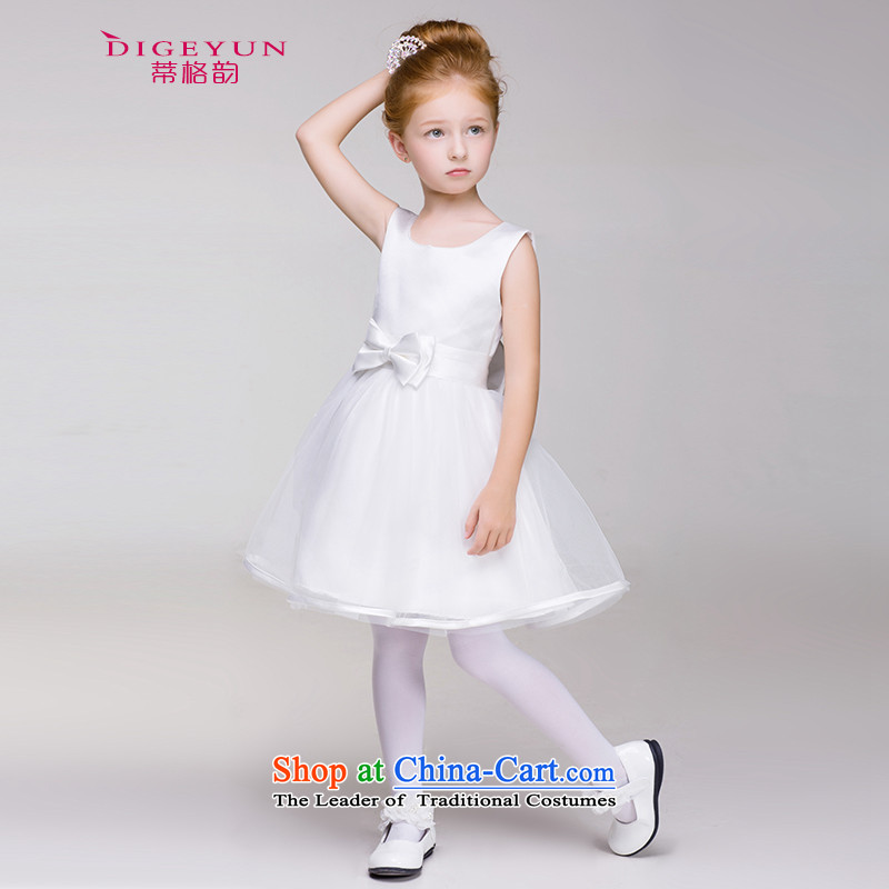 The following children dress Bow Tie Princess skirt bon bon dress skirt 61 Will Flower Girls Wedding Dress White 150