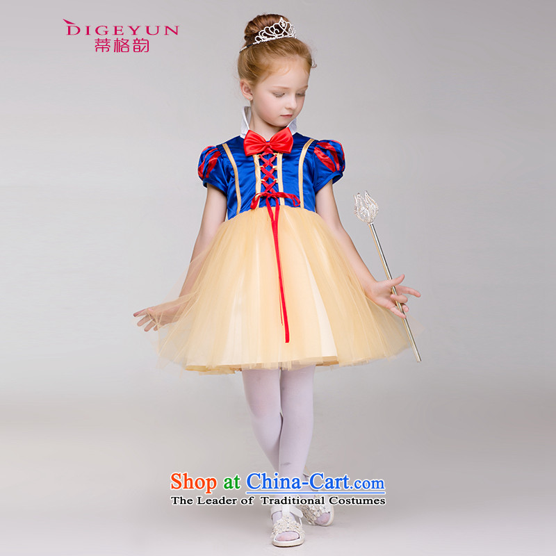 The following child snow white dress girls dress Flower Girls wedding dress fairy tale show services summer costumes Blue 90