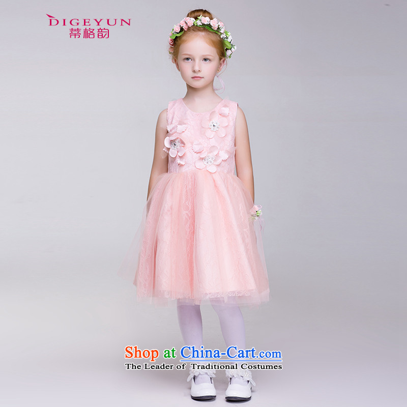 The following children dress pink gauze bon bon dress skirt girls princess skirt Flower Girls will 2015 Summer pink 150