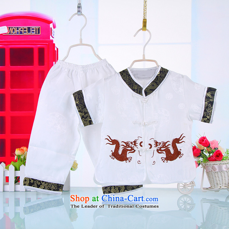 Summer Children Tang Dynasty Men's Apparel short-sleeve kit kindergarten services your baby should show week services white90