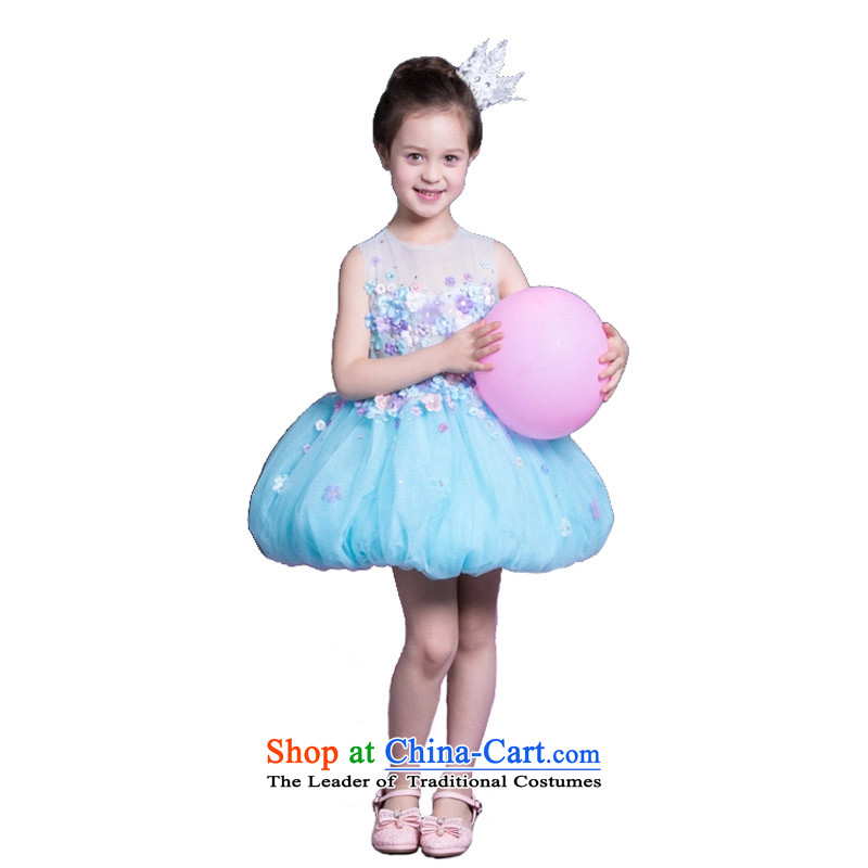 Adjustable leather case package children dress girls princess skirt will children's wear skirts princess bon bon skirt Flower Girls dress dresses picture color聽150cm