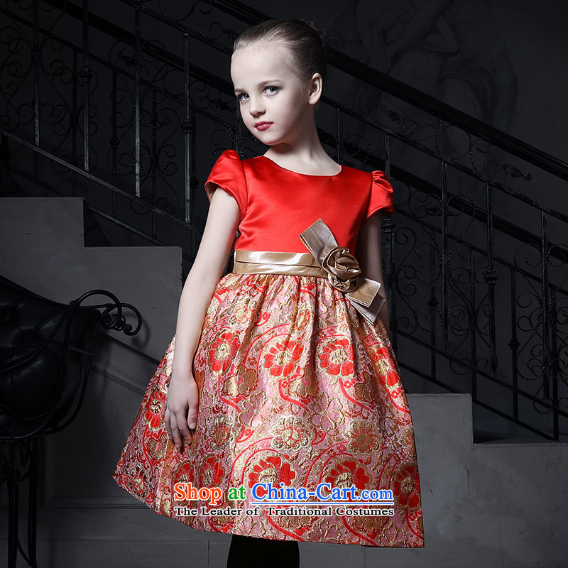 Love of Ko Yo Girl Princess skirt girls dress Flower Girls skirt children evening dresses owara princess skirt will Red140