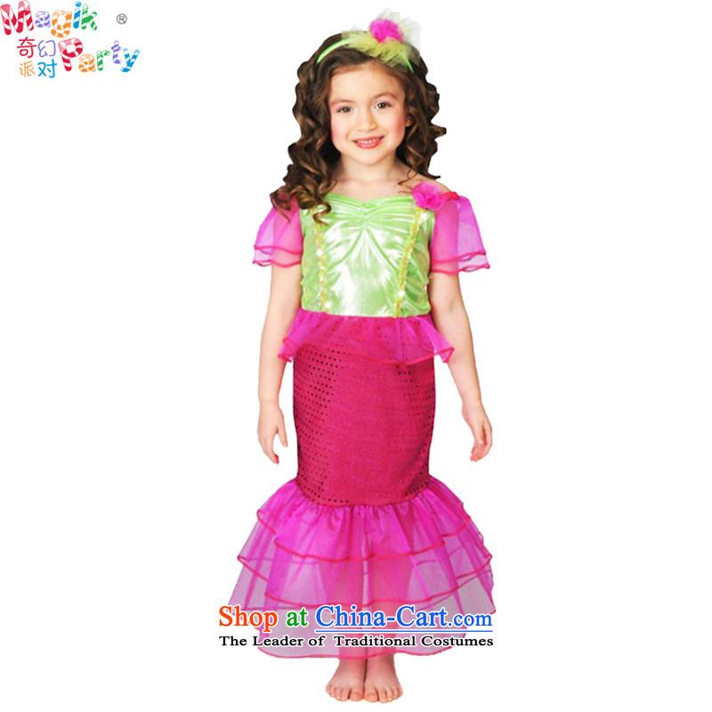 Fantasy Halloween costume party kindergarten girls show apparel theatrical performances services photography dresses Mermaid Princess skirt mermaid120cm7-8 code