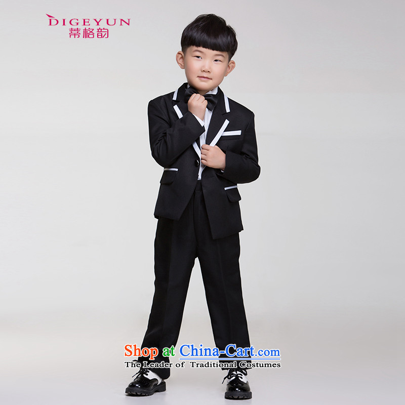 The following children dress boys 61 performances kit dress moderator costumes and black suit, Children 140