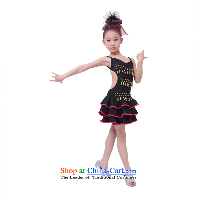 Children will costumes and girls Latin dance on the stage chip dance skirt skirt?TZ5108-0102?black?120cm