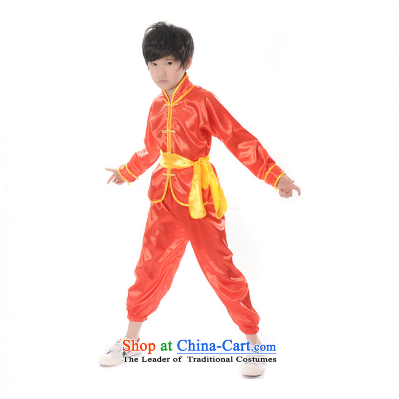 Children will exercise clothing boy martial arts performance services package service kung fu shirt聽TZ5108-0103 Taijiquan聽Red聽160cm