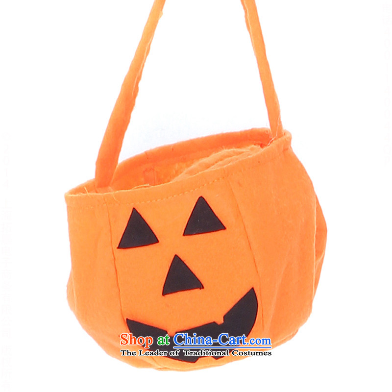Halloween costume children pumpkin clothing children's clothing TZ5108-0117 pumpkin handbag single price children (suitable for various height)