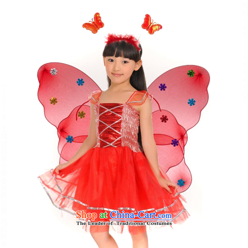 Children's stage costumes dance performances skirt princess butterfly wings of the establishment of a fourthTZ5108-0113 pieceXL130 recommendations to raise 155