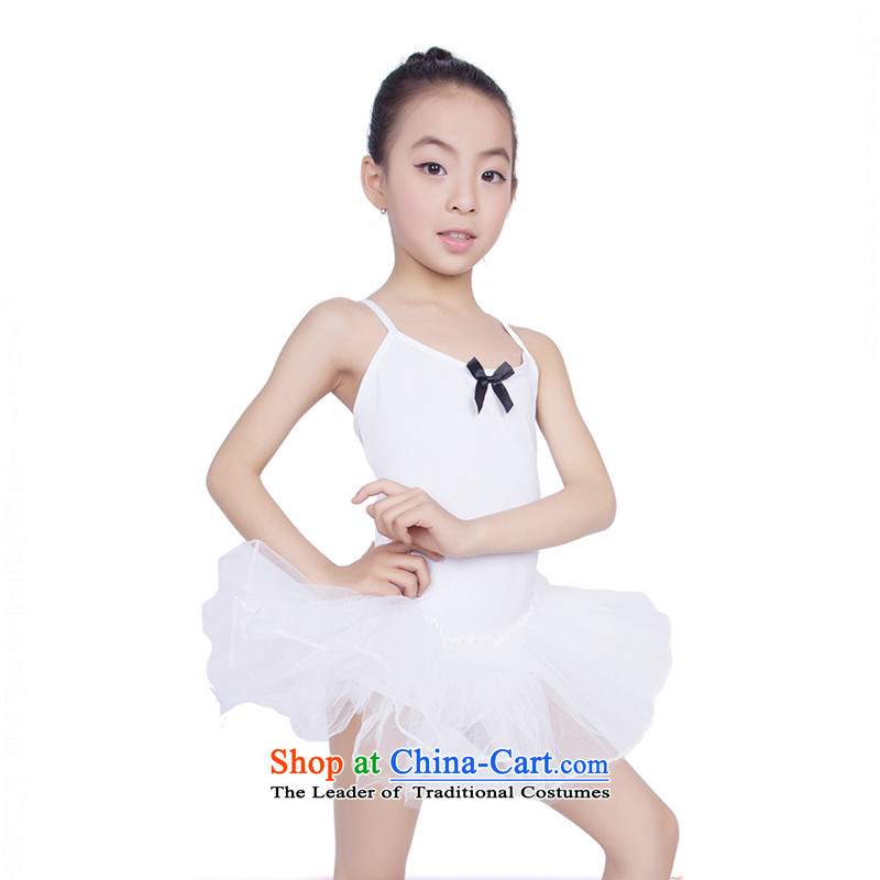 Children Dance services slips girls practitioners wearing ballet princess skirt dress will聽TZ5108-0119聽white聽120cm