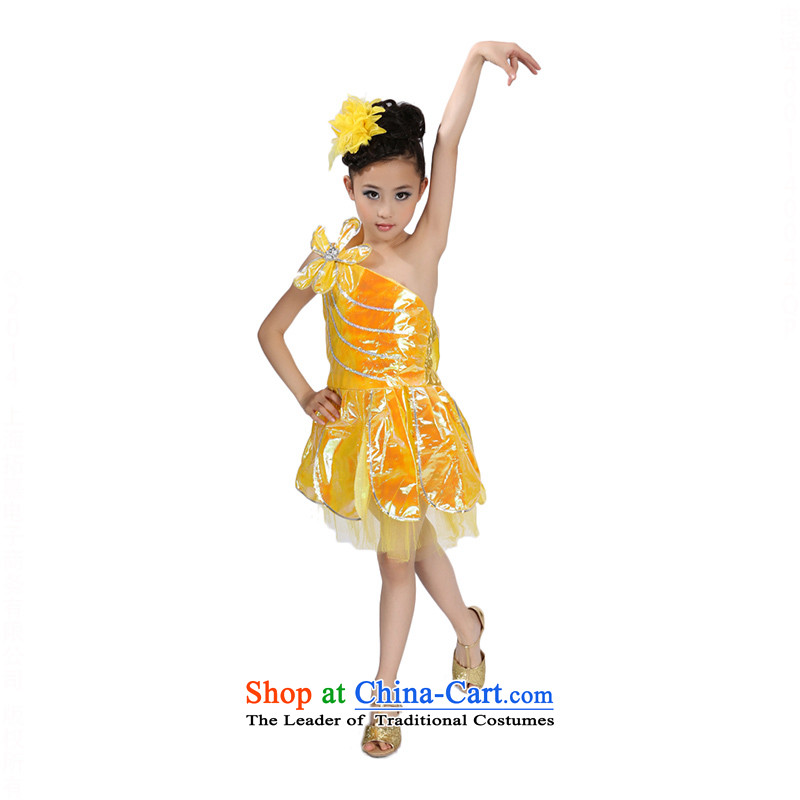 Children Dance dress girls ballet skirt early childhood slips show services TZ5108-0121 Yellow 160cm