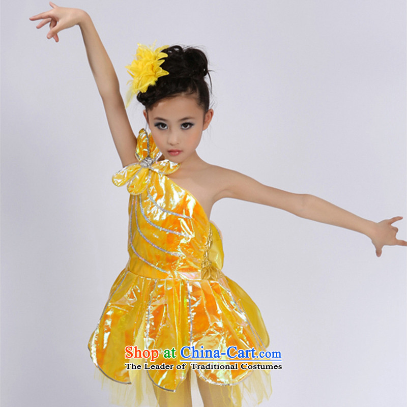 Children Dance dress girls ballet skirt early childhood slips show services TZ5108-0121 yellow 160CM,POSCN,,, shopping on the Internet
