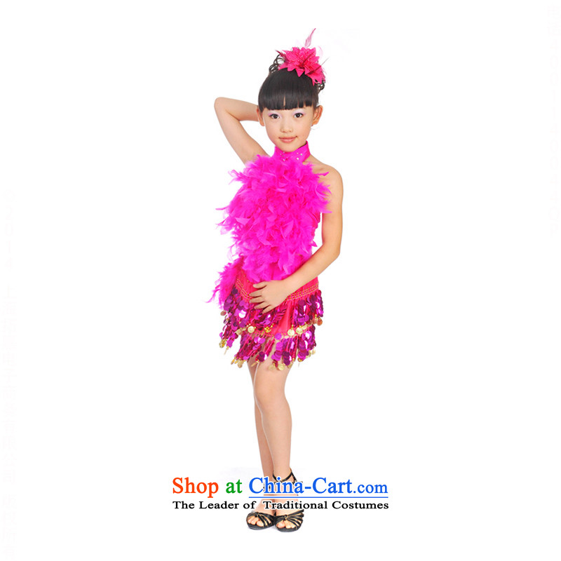 Shao Er Latin dance costumes girls serving on contemporary plays chip children dance skirtthe red140 TZ5108-0124