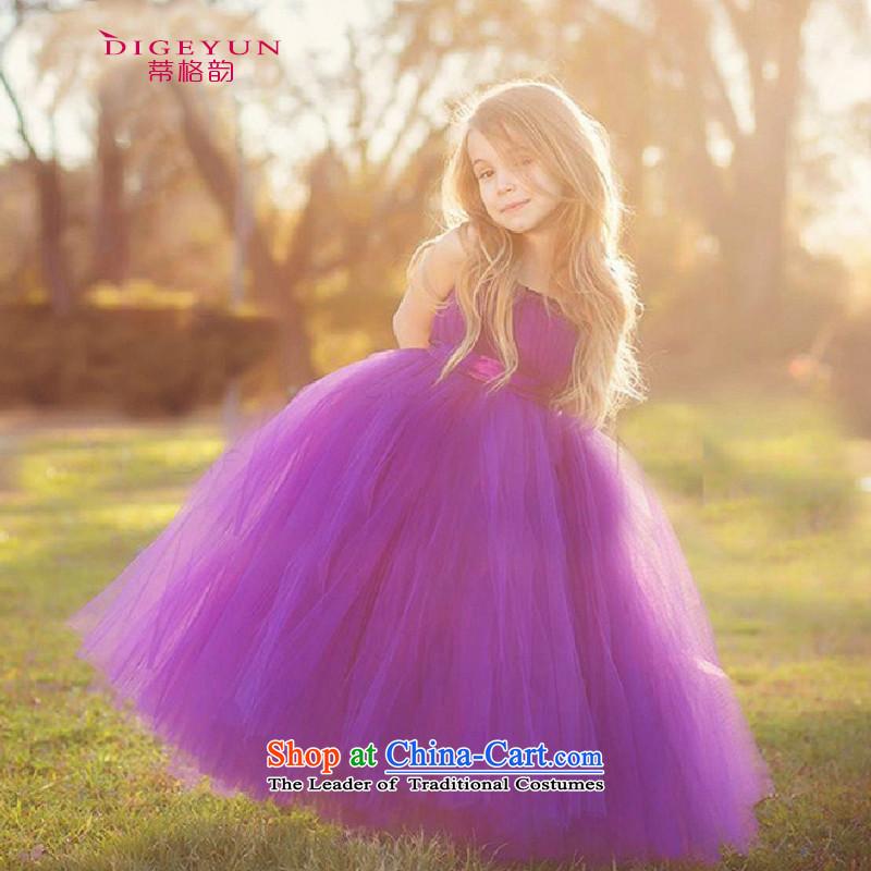 The following children and of children's wear dresses princess skirt Flower Girls dress skirt performances bon bon skirt purple120