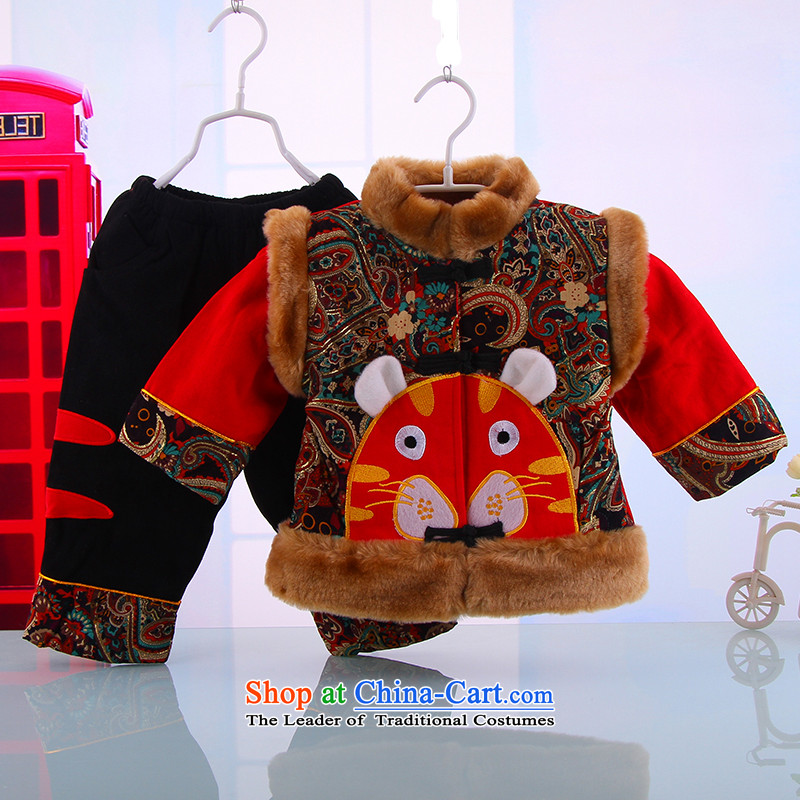 New Year baby Tang dynasty cotton manually and Tang dynasty children and infant boys winter clothing tang with two-piece set out to 100 small and red5249 Dodo xiaotuduoduo) , , , shopping on the Internet