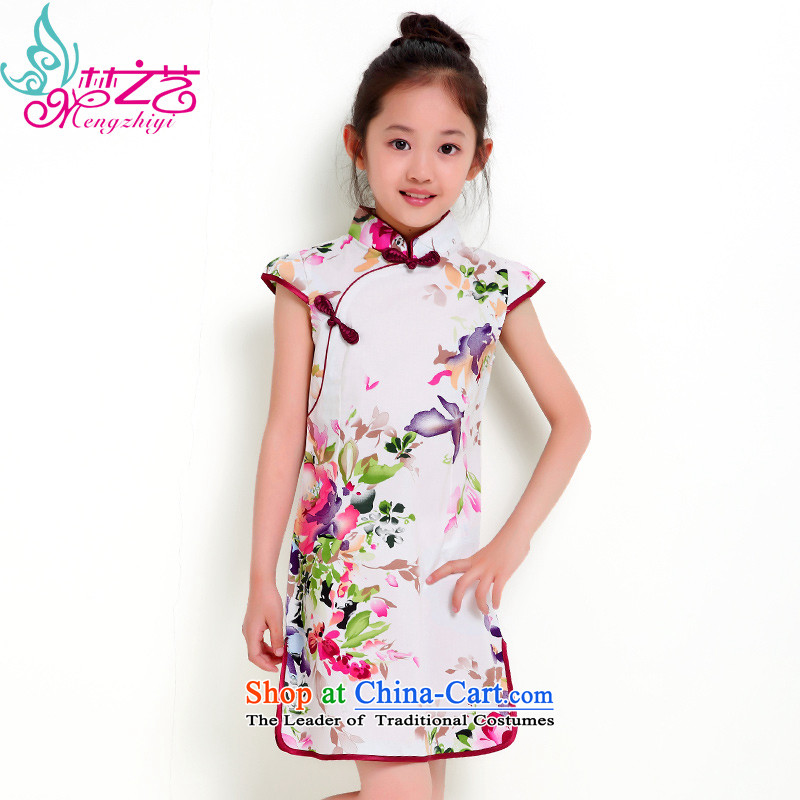 The dream girl children arts cheongsam cheongsam dress Tang dynasty women 2015 Summer baby new summer short-sleeved clothes dresses MZY-0301 new experience a fragrant hangtags 120 110 to 120cm tall recommendations
