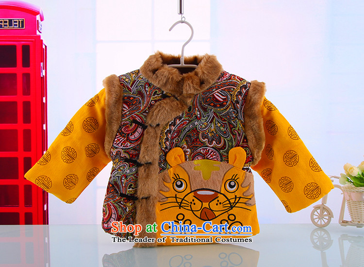 Hot Sales for 2014 Tang dynasty baby Birthday Boy New Year Boxed Kit Tang dynasty cotton coat whooping dress format5248 Yellow 100 pictures, prices, brand platters! The elections are supplied in the national character of distribution, so action, buy now enjoy more preferential! As soon as possible.