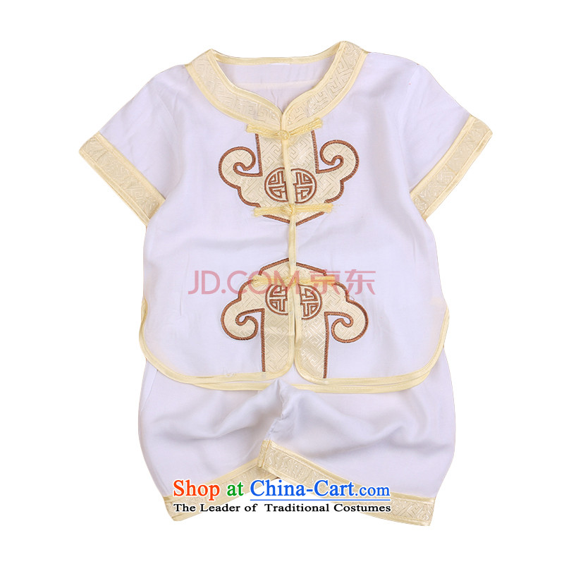 2015 new boys under the age of a gift pack for summer baby Tang children of ethnic Chinese clothing sets 4,799 white 73
