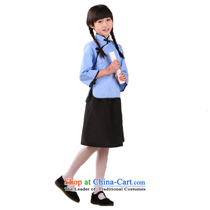 The Republic of Korea Air bag to package children costume clothing girls students with the 4 May Youth Apparel children will Blue聽150cm聽tall 145-155cm recommendations