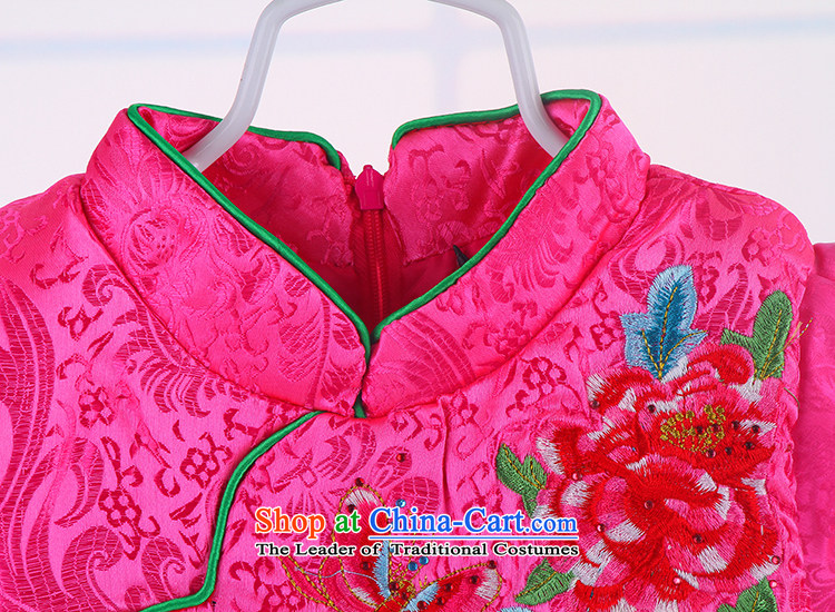 2015 Children Tang dynasty girls Tang Dynasty Show service upscale children dress Yun Jin dress princess skirt pink 110 pictures, prices, brand platters! The elections are supplied in the national character of distribution, so action, buy now enjoy more preferential! As soon as possible.