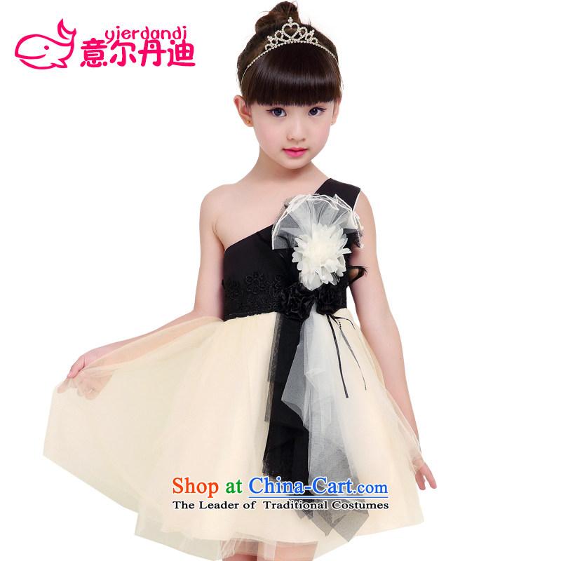 Children dress girls princess skirt wedding dresses Flower Girls bon bon dress that children will stage show the skirt will dress suit Female picture color聽140