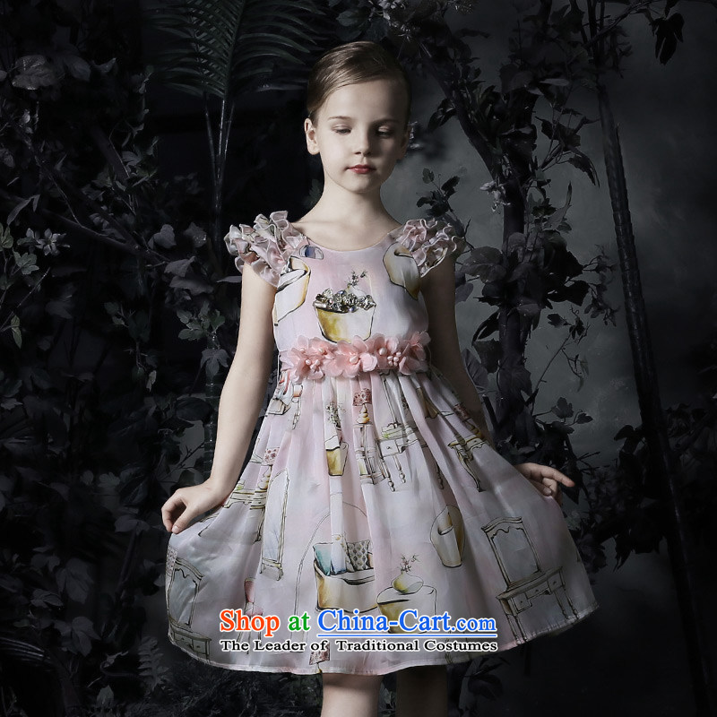 Love Of the spring and summer of 2015, Ko Yo new upscale children dress silk OSCE root yarn princess bon bon skirt girls dress Flower Girls skirt figure 160