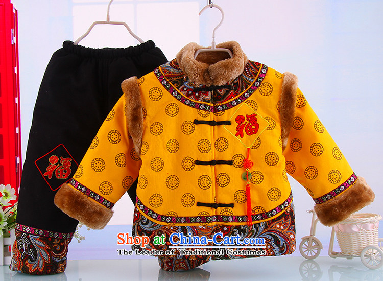 Tang Dynasty children thick boy cotton coat Tang Dynasty Tang dynasty children's wear winter thick Tang dynasty child robe Tang dynasty yellow聽120 pictures, prices, brand platters! The elections are supplied in the national character of distribution, so action, buy now enjoy more preferential! As soon as possible.