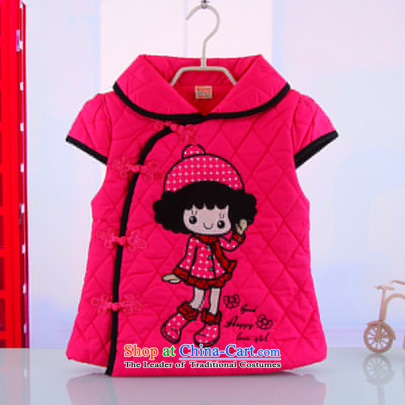 Children's wear sections of autumn and winter child baby girl, a Tang Dynasty dresses thick dresses, a lovely pink dress?110