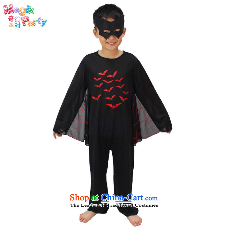 Fantasy Halloween costume party Boys School dress party gatherings Role Play Batman Batman Begins115cm5-6 black dress code
