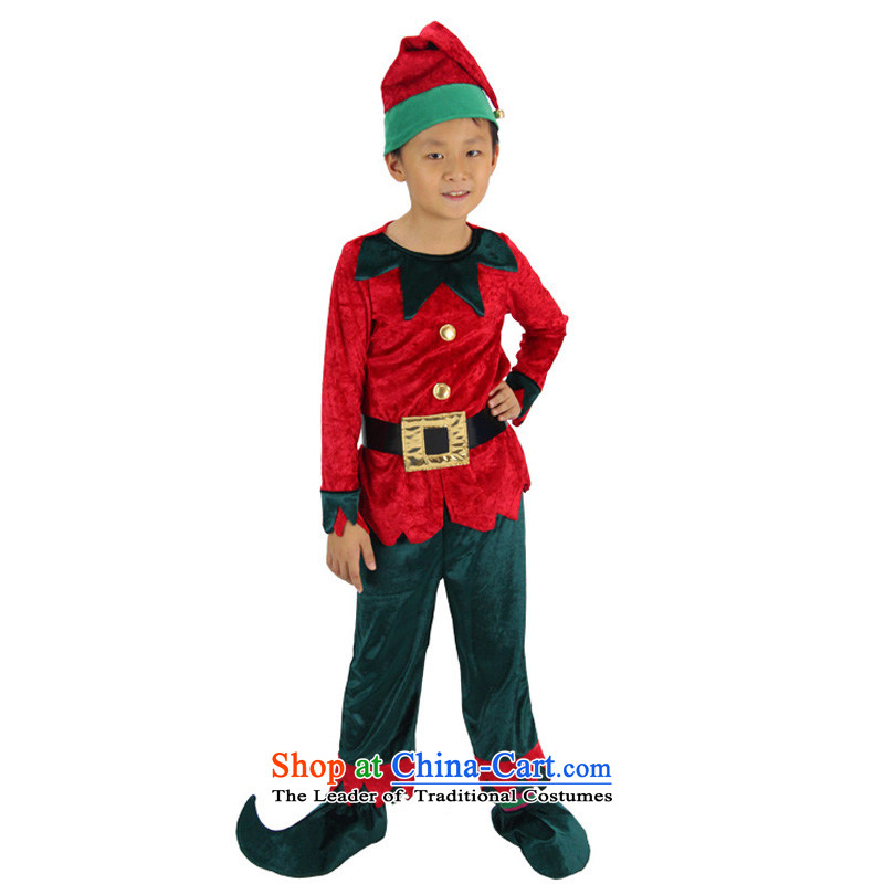 Fantasy To Primary Schools For Boys And Girls Costumes Christmas Clothing Santa Claus Small Green Goblin