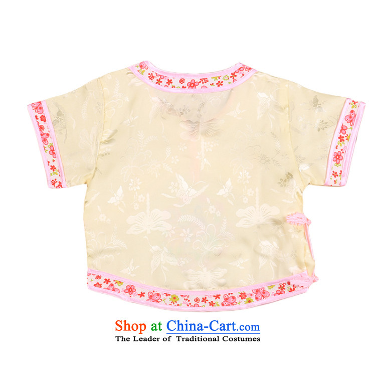 Tang Dynasty children Tang dynasty baby girl cheongsam damask Siu Fung fairy boy shorts, short-sleeved packaged New Concert 4665 summer clothing yellow 90 pictures, prices, brand platters! The elections are supplied in the national character of distribution, so action, buy now enjoy more preferential! As soon as possible.