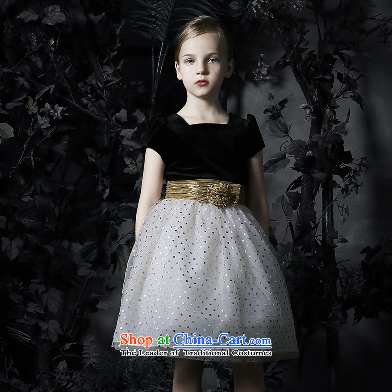 Love of Ko Yo children dress skirt bon bon skirt girls princess skirt girls dress to live piano music services Flower Girls dress girls Black 160
