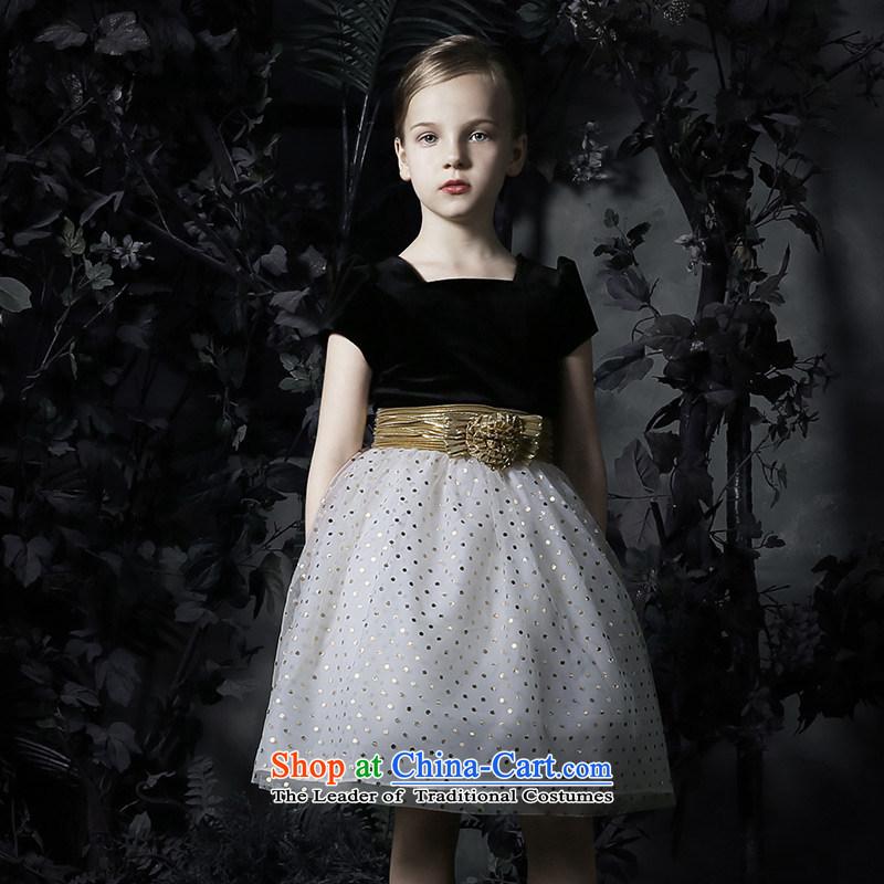 Love of Ko Yo children dress skirt bon bon skirt girls princess skirt girls dress to live piano music services Flower Girls dress girls Black?160