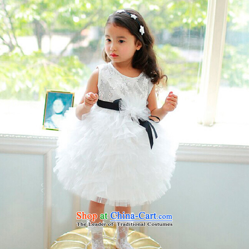 Custom?branded children's wear Korean hanakimi girls dress on chip cake skirt birthday princess skirt photo session K15084 piano silver?7-12 day delivery?150cm