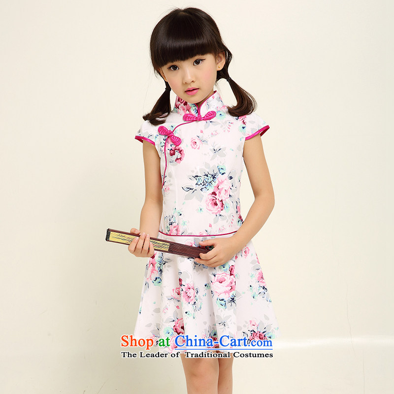 Children qipao girls Tang dynasty princess skirt ethnic dresses little girl Da Tong Zheng costumes picture color 1 130 small a code