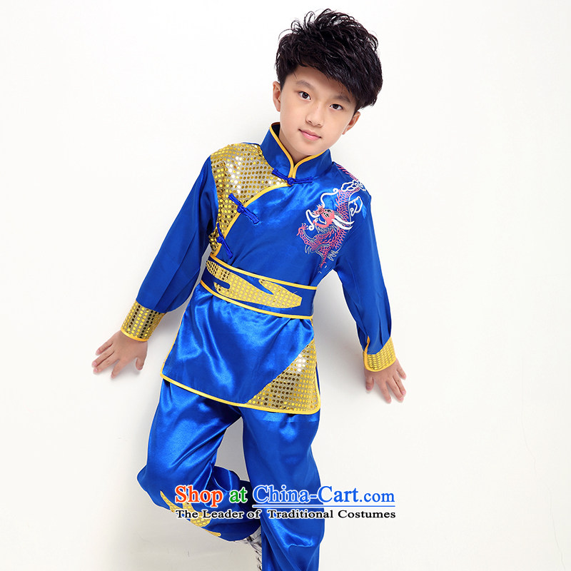 Load New children fall costumes boy martial arts service pack girl child care kung fu dance services Blue聽150