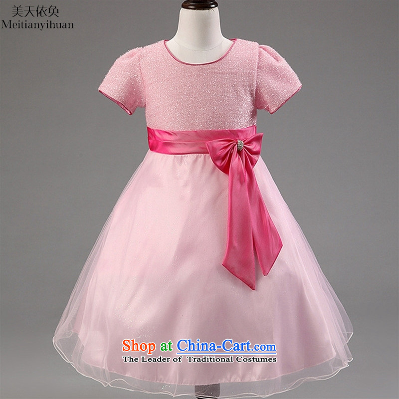 Export to the European and US every Sundays 2015 Skirt Bow Tie dresses pure color child children's wear skirts White?8