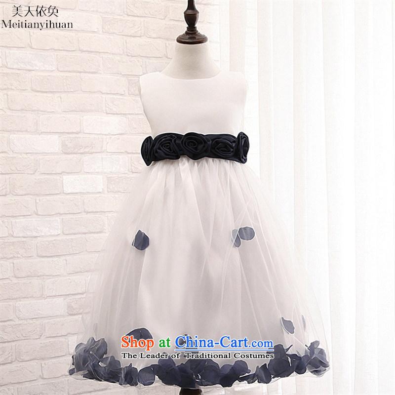 Girls' skirts suits Princess Margaret Flower Petals Princess dresses Bow Tie Flower Girls skirt the red�130cm