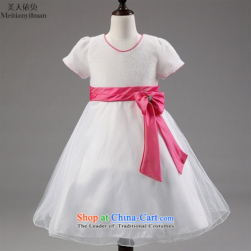 The largest explosion of children dresses girls bow tie children's wear skirts girls skirt Princess Red聽8