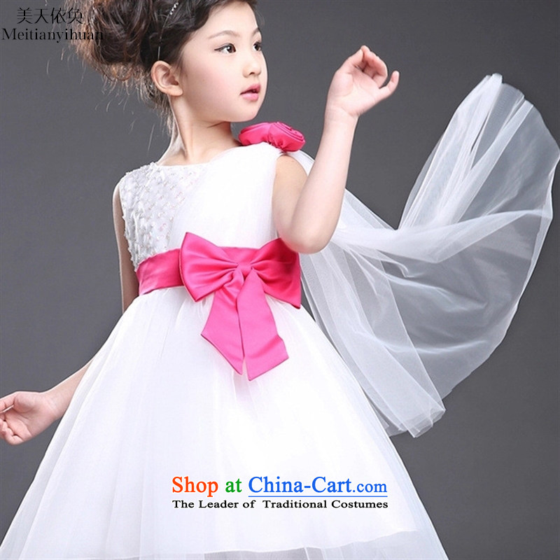 Children dresses Summer 2015 new cuhk girls princess vest dress dances dress skirt red聽130cm