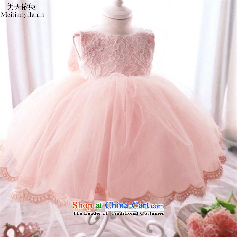 2015 new girls lace dresses Korean girls skirt twine bow knot princess skirt red130cm