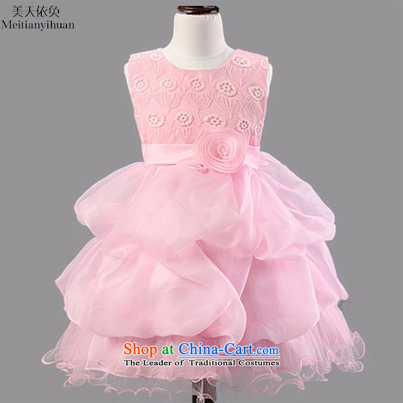 2015 princess girls skirts children dresses rose blossoms wedding flower girls skirt Blue 150cm