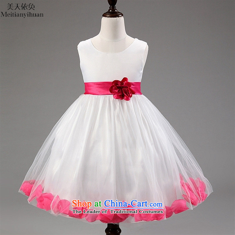 Quality Western petals girls dresses princess long skirt dress skirt light purple?130cm
