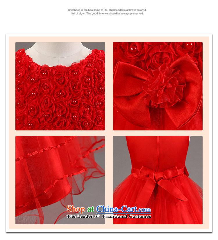 The new children's wear sleeveless Flower Girls dress girl children bow tie dresses red 130cm photo, prices, brand platters! The elections are supplied in the national character of distribution, so action, buy now enjoy more preferential! As soon as possible.