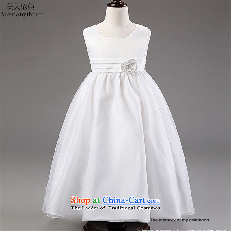 The Korean version of children's wear under the 2015 wedding flower girls dress skirts wedding sons and daughters who princess dresses child skirt Blue聽150cm