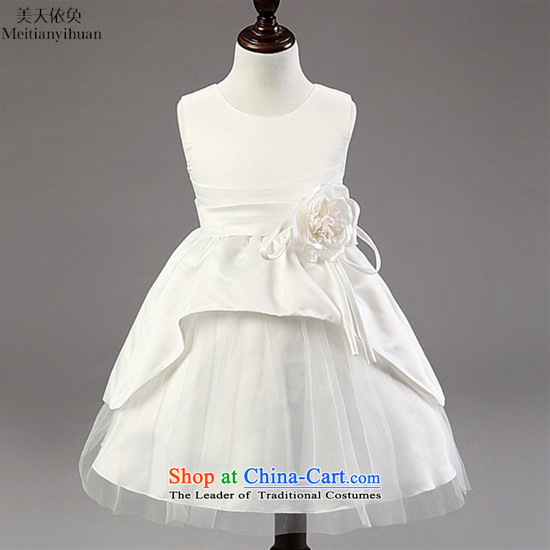 The Korean version of the Flower Girls Princess skirt the new girls dresses bon bon skirt girls dress pink 130cm