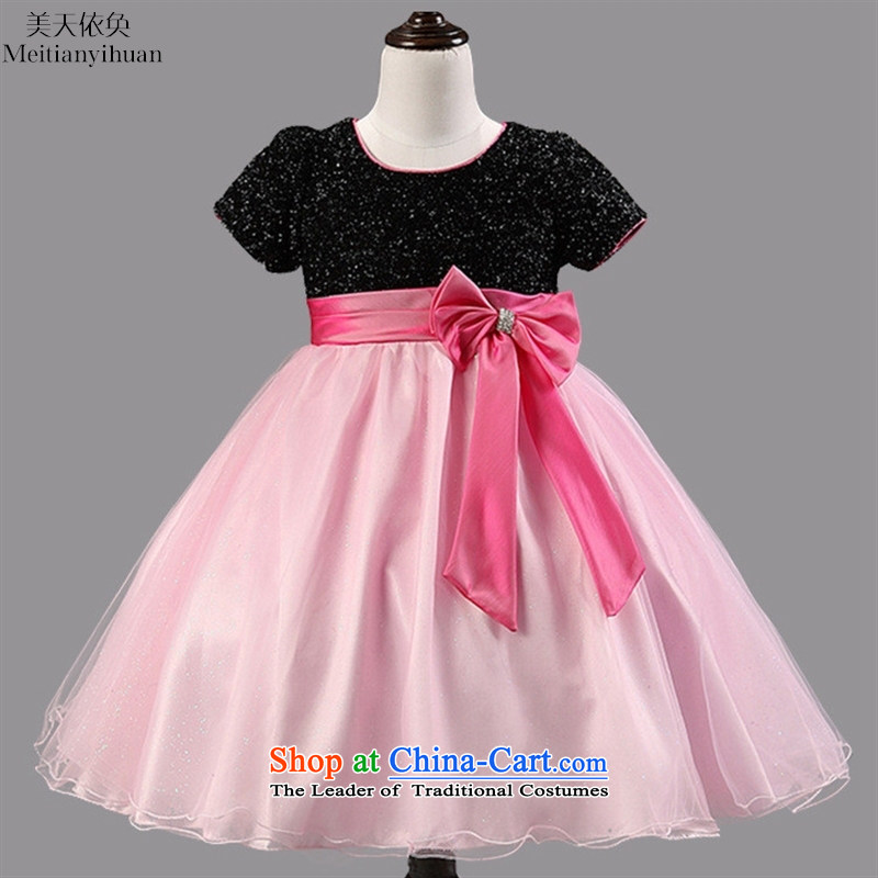 The new child skirt summer princess skirt girls Korean children's wear dresses Red 8