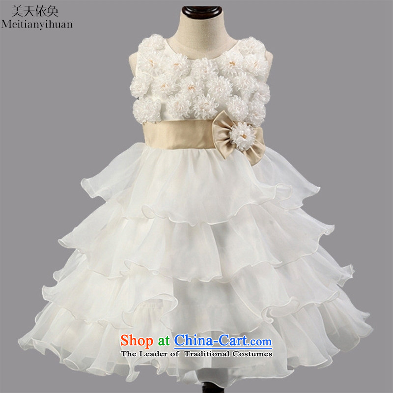 2015 Korean girls princess skirt roses bow tie girls pink dresses聽130cm